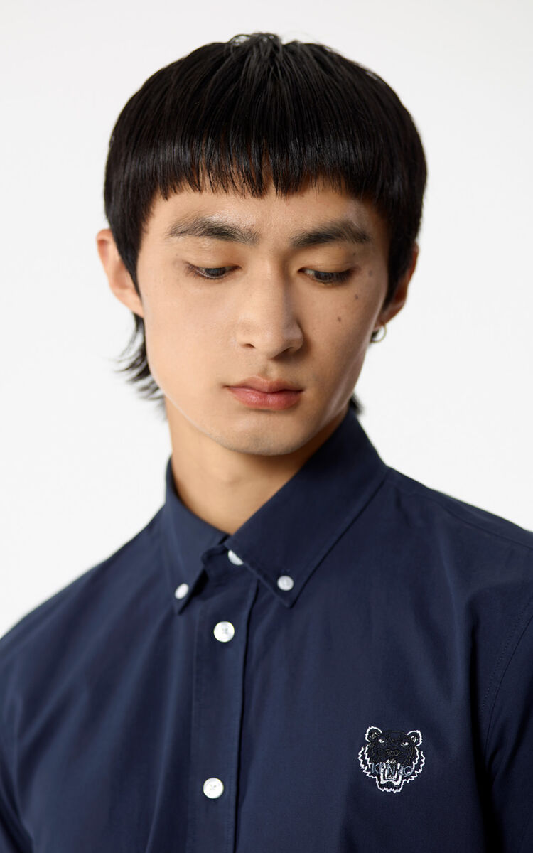 NAVY BLUE Tiger shirt for men KENZO
