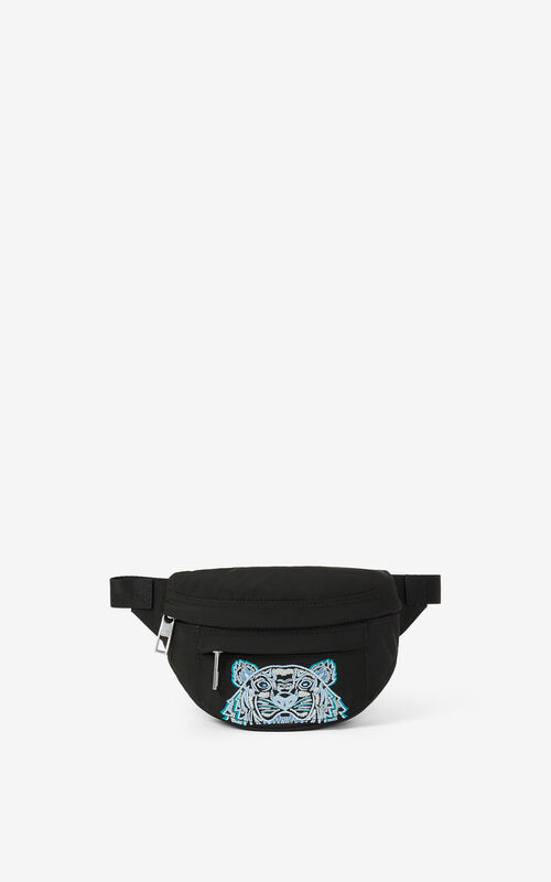 BLACK Kampus Tiger small belt bag for unisex KENZO