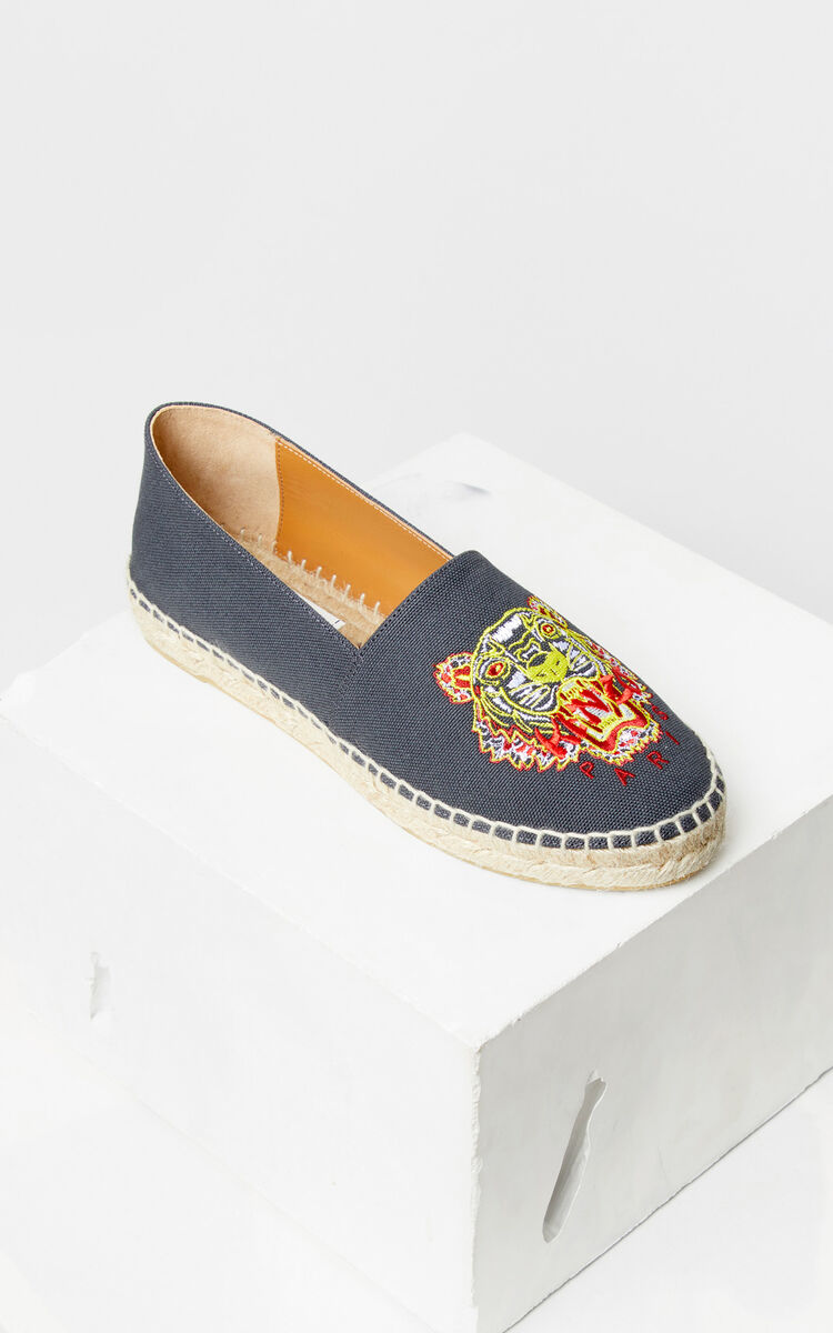 ANTHRACITE 'Dragon Tiger' espadrilles for women KENZO
