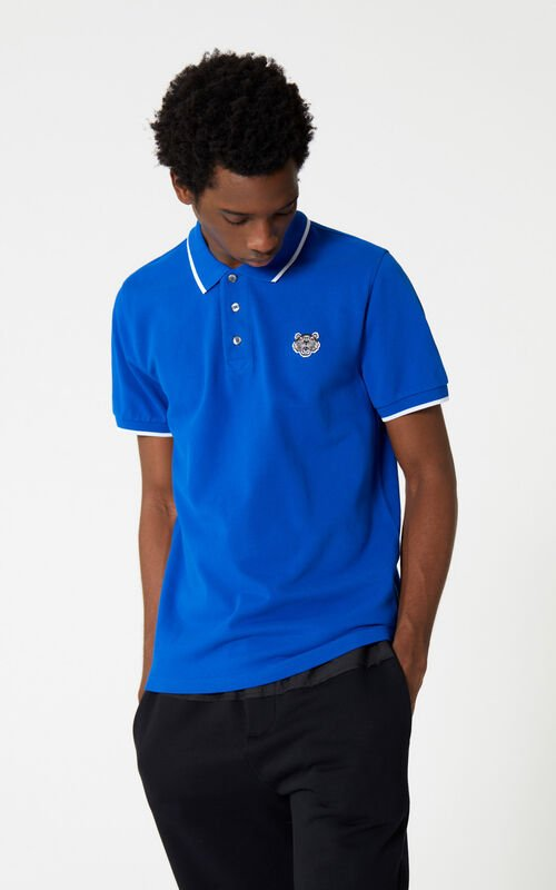 FRENCH BLUE Tiger polo shirt for men KENZO