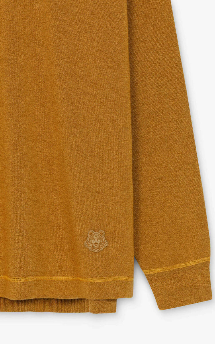 DARK BEIGE Cotton and wool jumper for women KENZO