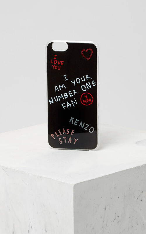 I LOVE U iPhone 6/6S case, BLACK, KENZO