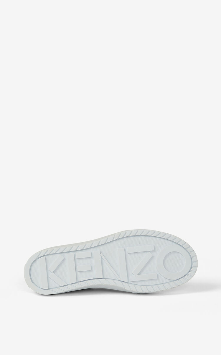 ECRU Canvas slip-on K-Skate Tiger sneakers for women KENZO