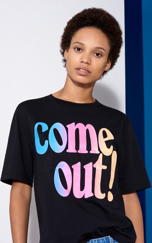 Come Out  T-shirt, BLACK, KENZO