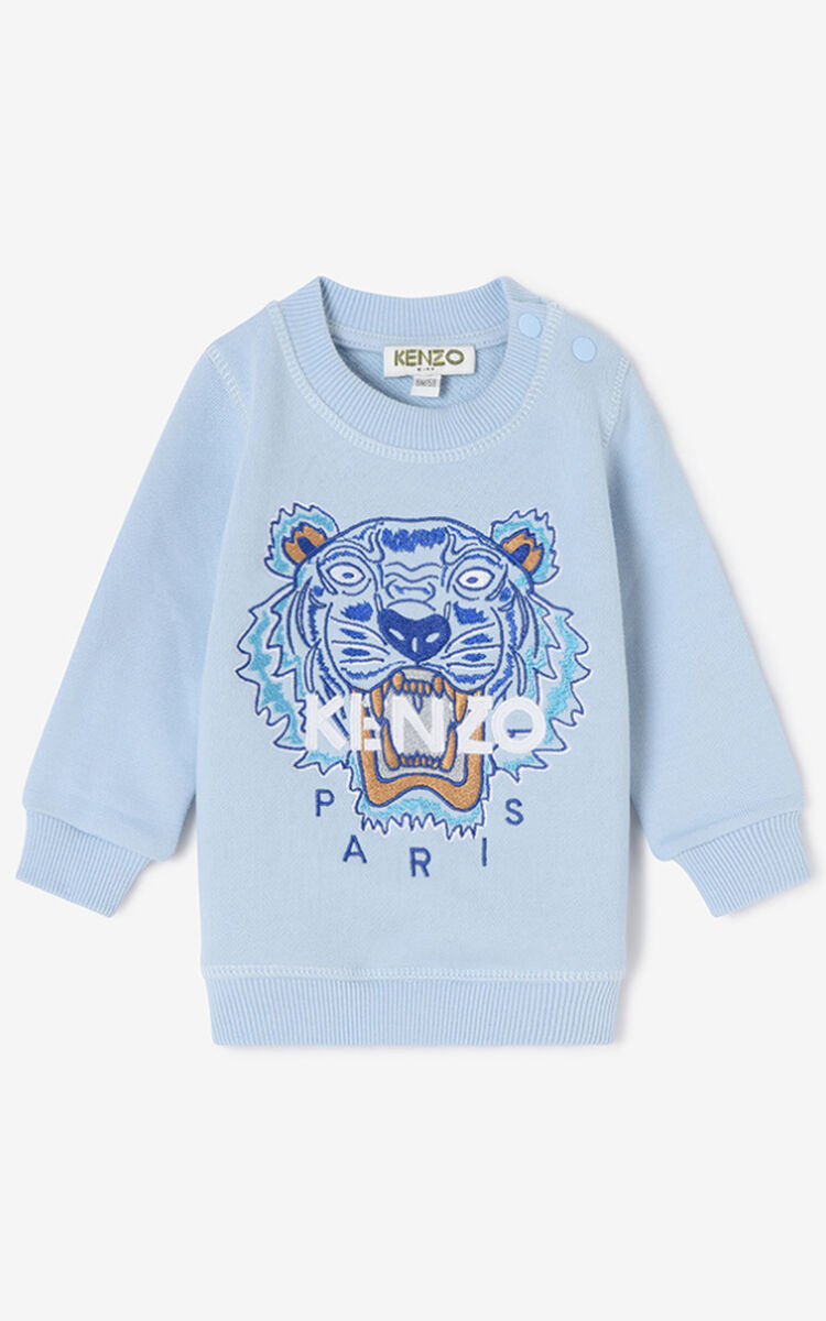 SKY BLUE Tiger Sweatshirt for men KENZO