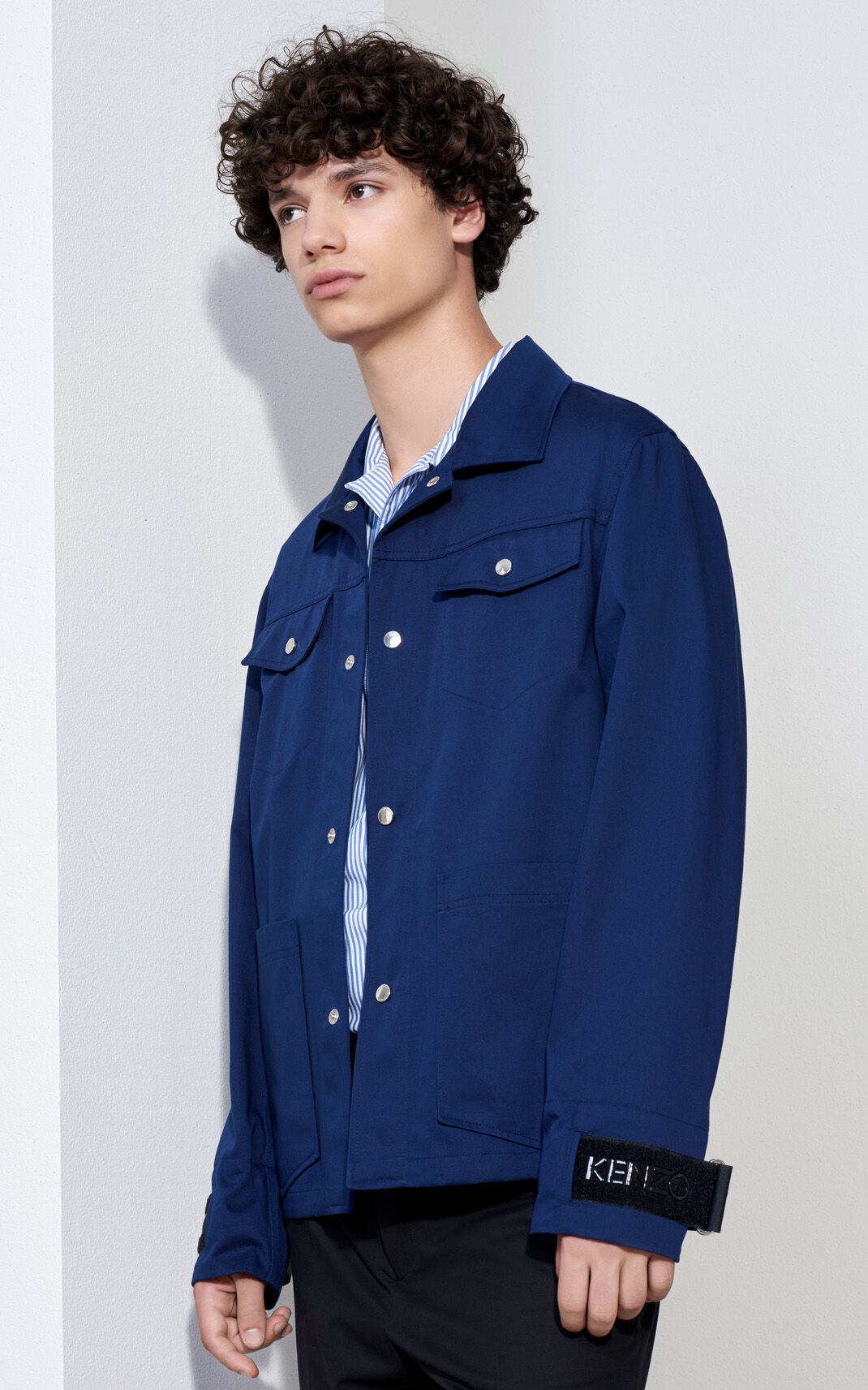 MIDNIGHT BLUE KENZO Workwear Jacket  for men
