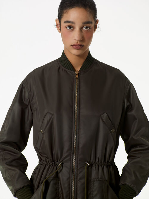 DARK KHAKI Long Bomber for women KENZO