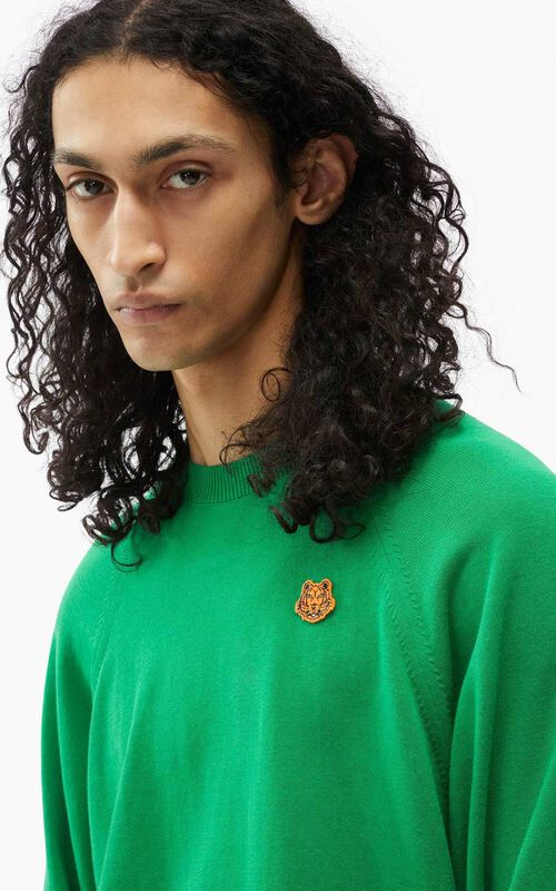 GREEN Tiger Crest oversized jumper for men KENZO