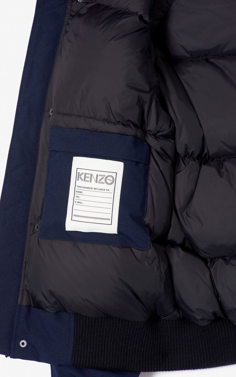 NAVY BLUE Puffa down jacket for women KENZO