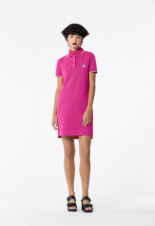 FLAMINGO PINK Tiger Polo Dress for women KENZO