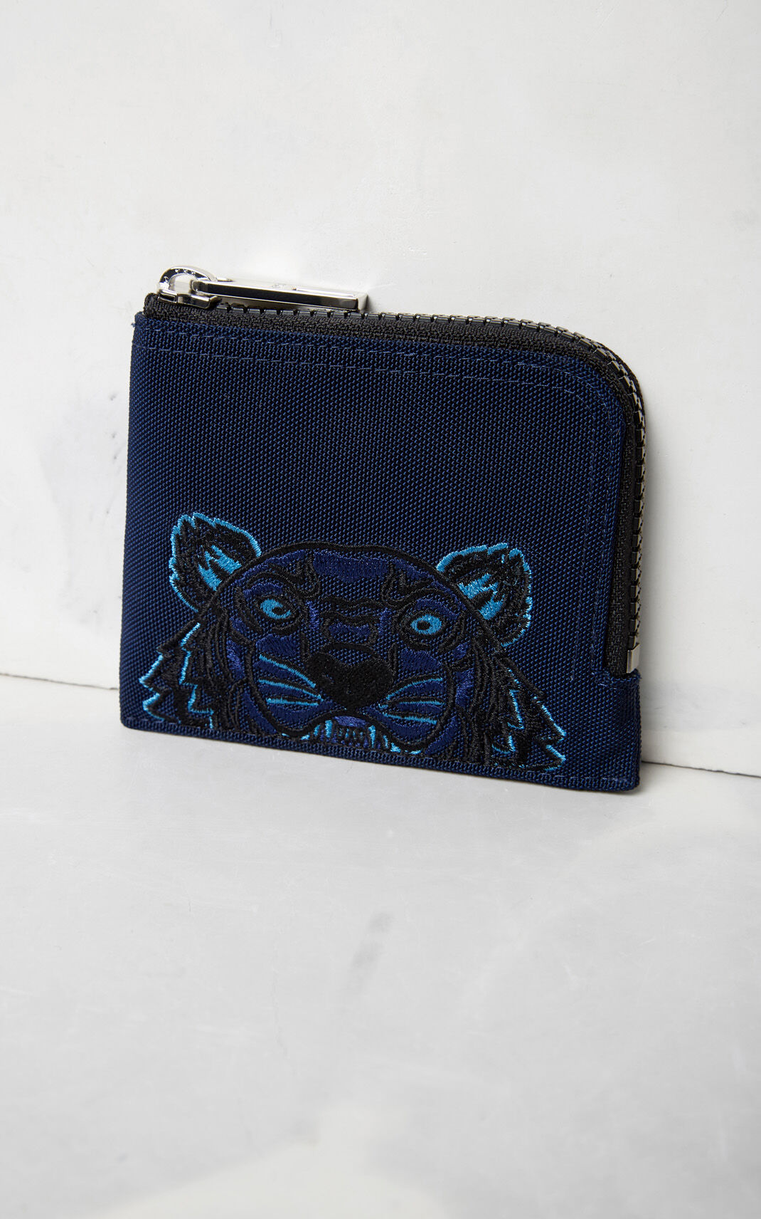 NAVY BLUE Zipped Tiger purse for unisex KENZO