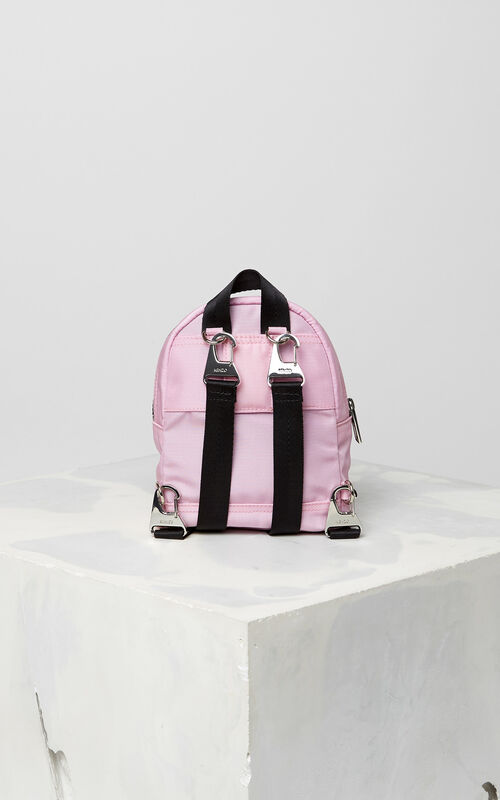 FLAMINGO PINK Mini Tiger Canvas backpack for unisex KENZO