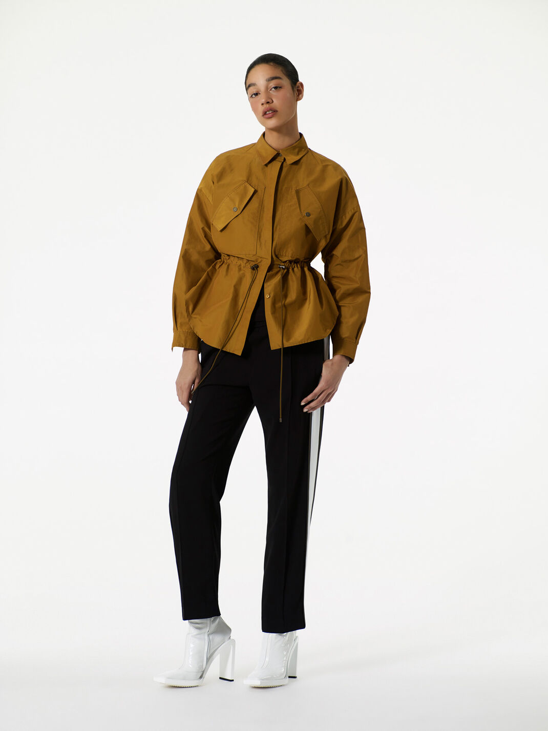 PALE KHAKI Peplum' Shirt for women KENZO