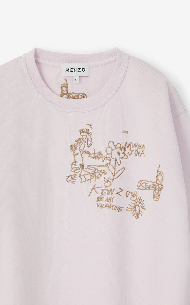 FADED PINK Valentine's Day Capsule 'Chest Valentines' sweatshirt for women KENZO
