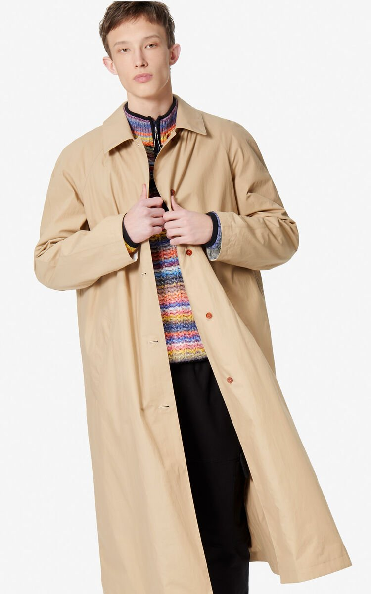 PALE CAMEL Reversible trench coat for men KENZO