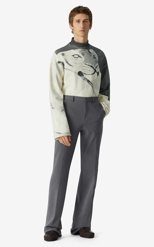 STONE GREY Trousers for men KENZO