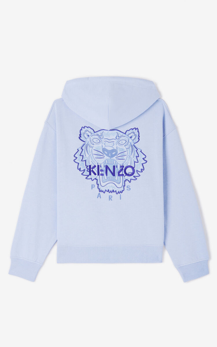 LAVENDER 'High Summer Capsule Collection' zipped Tiger sweatshirt for women KENZO