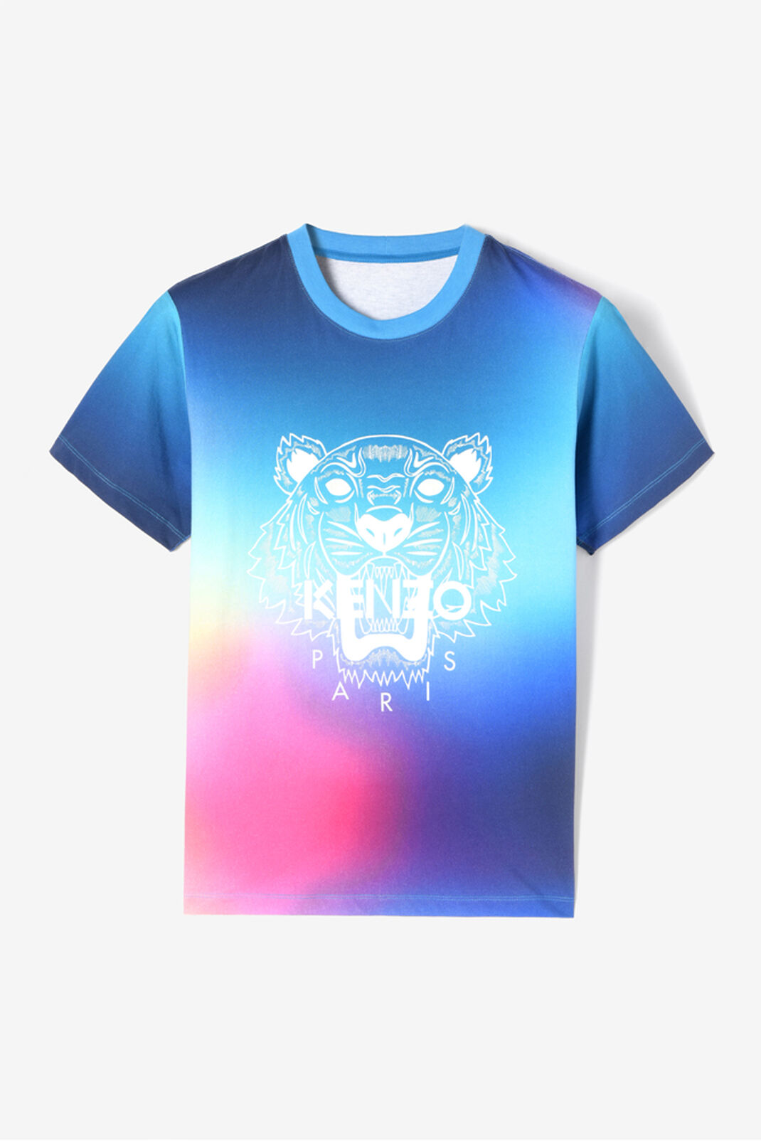 CYAN Rainbow Tiger T-shirt for men KENZO