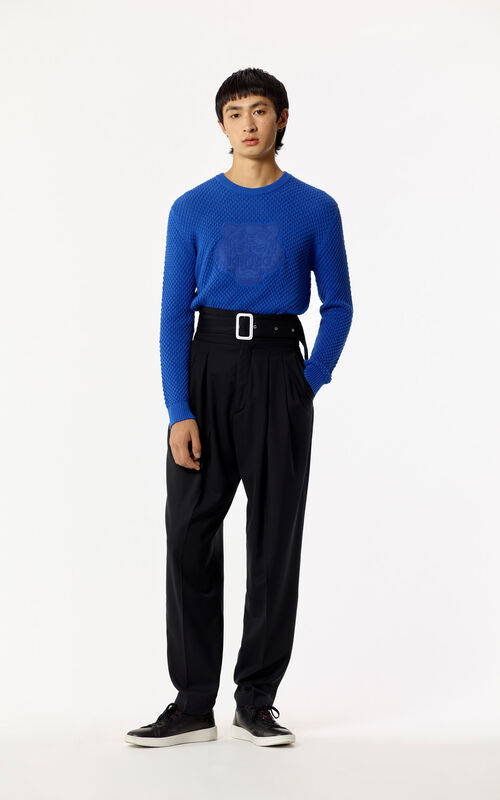 BLACK 80's High-waisted pant for men KENZO