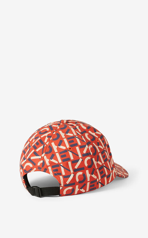 DEEP ORANGE KENZO Sport monogrammed cap for men