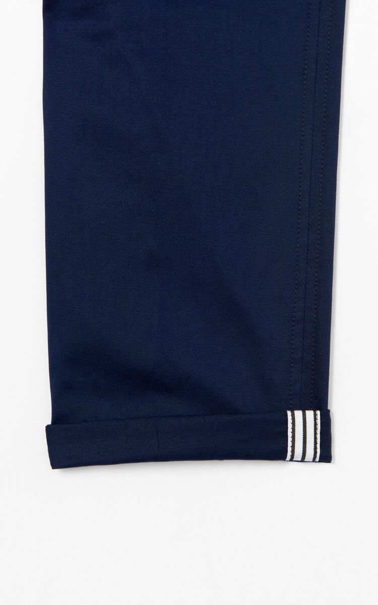 NAVY BLUE Relax chinos for men KENZO