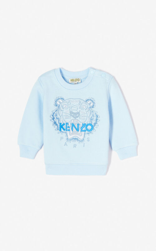 94b10e26 Baby Boy · LIGHT BLUE Tiger sweatshirt for men KENZO ...