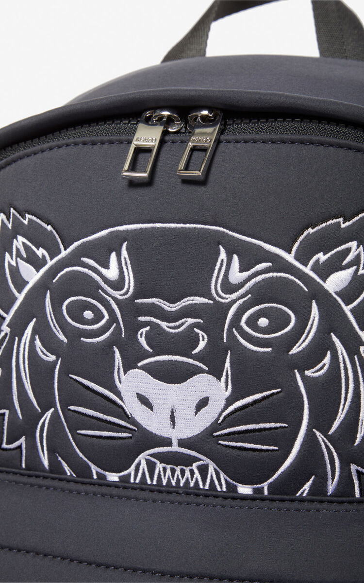 ANTHRACITE Large Tiger backpack for unisex KENZO