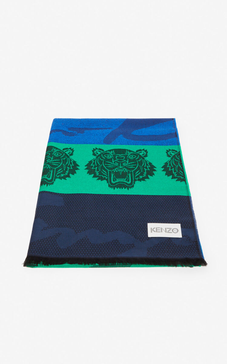 LIME Multi Icons scarf for unisex KENZO