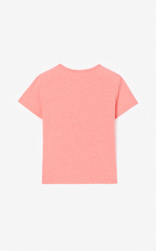 DEEP PINK KENZO logo t-shirt for women