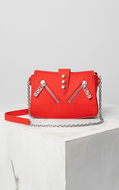 FIRE Tiny leather Kalifornia bag for unisex KENZO