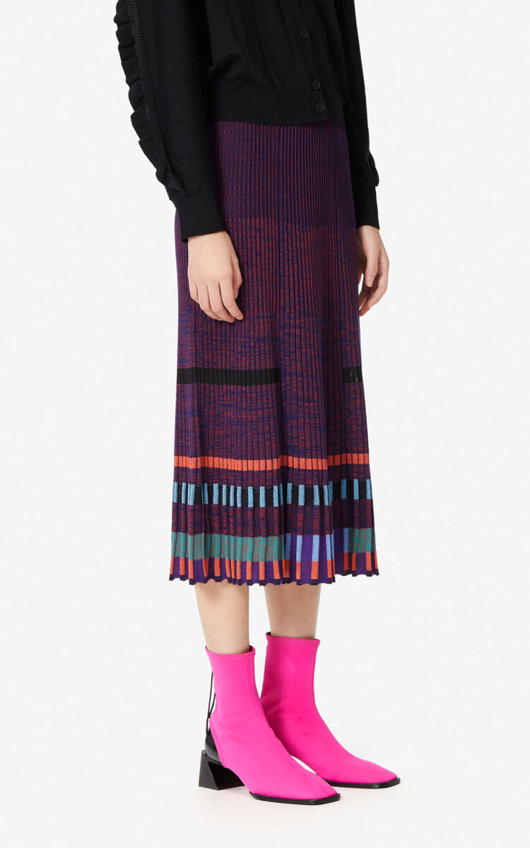 BORDEAUX Knit midi skirt for women KENZO