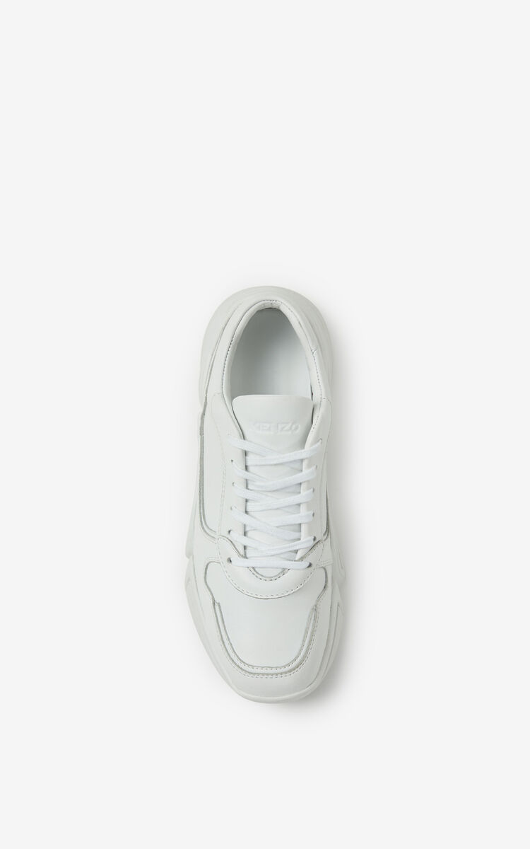 WHITE Kross leather sneakers for women KENZO