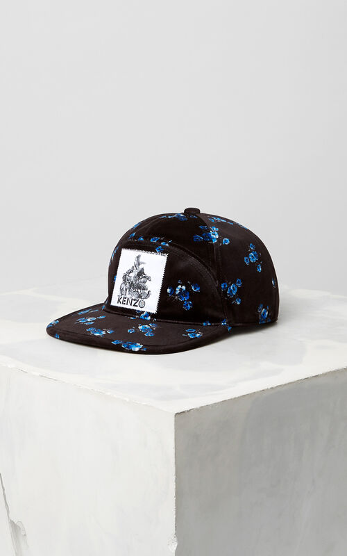 BLACK May Flowers' Velvet Cap for women KENZO