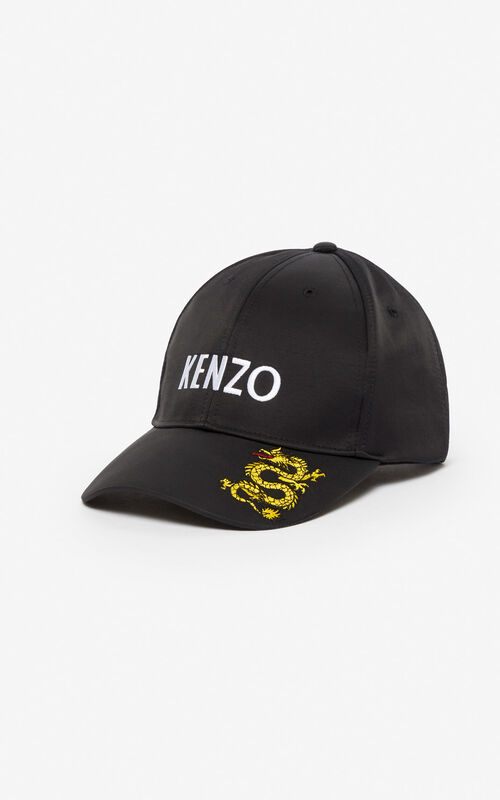 0eed39c979e715 BLACK 'Dragon' cap for unisex KENZO ...