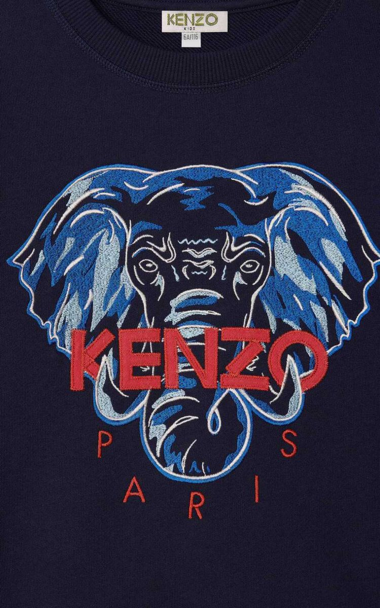NAVY BLUE Elephant' Sweatshirt for women KENZO