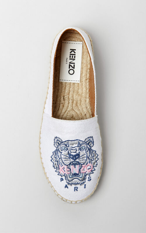 WHITE Tiger espadrilles for unisex KENZO