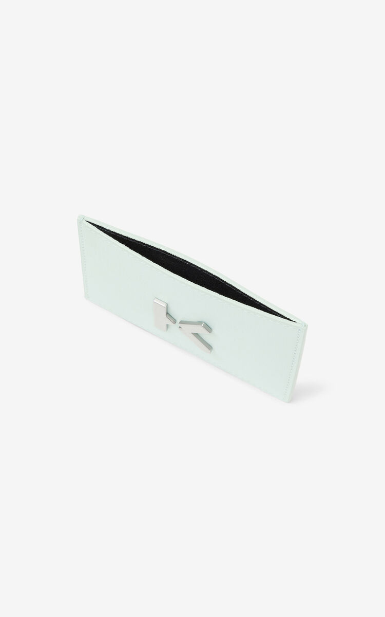 MINT KENZO K leather card holder for women