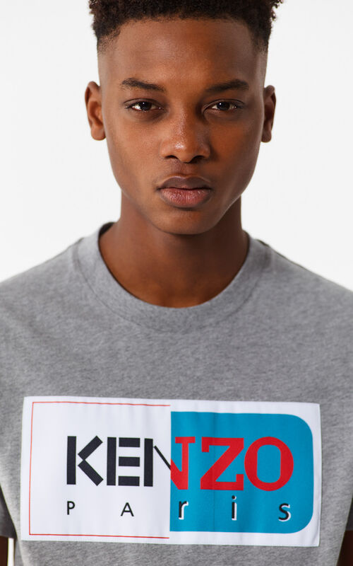 DOVE GREY KENZO Paris T-Shirt for men