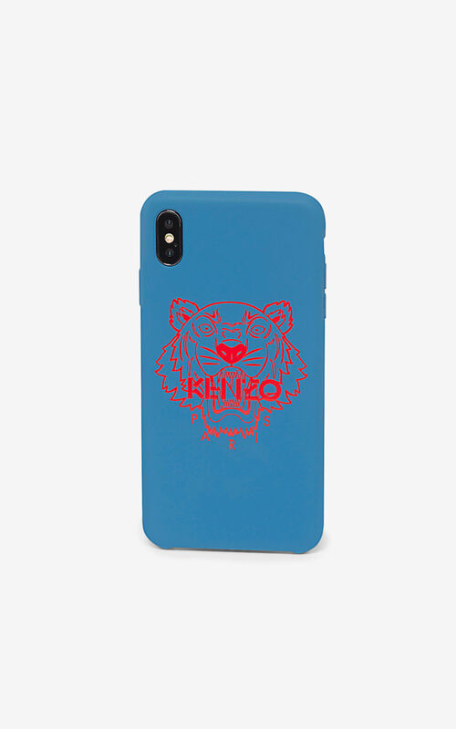 ROYAL BLUE iPhone XS Max Tiger case for unisex KENZO