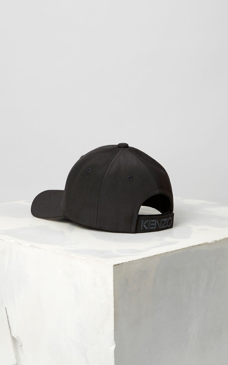 BLACK Tiger Canvas Cap for women KENZO