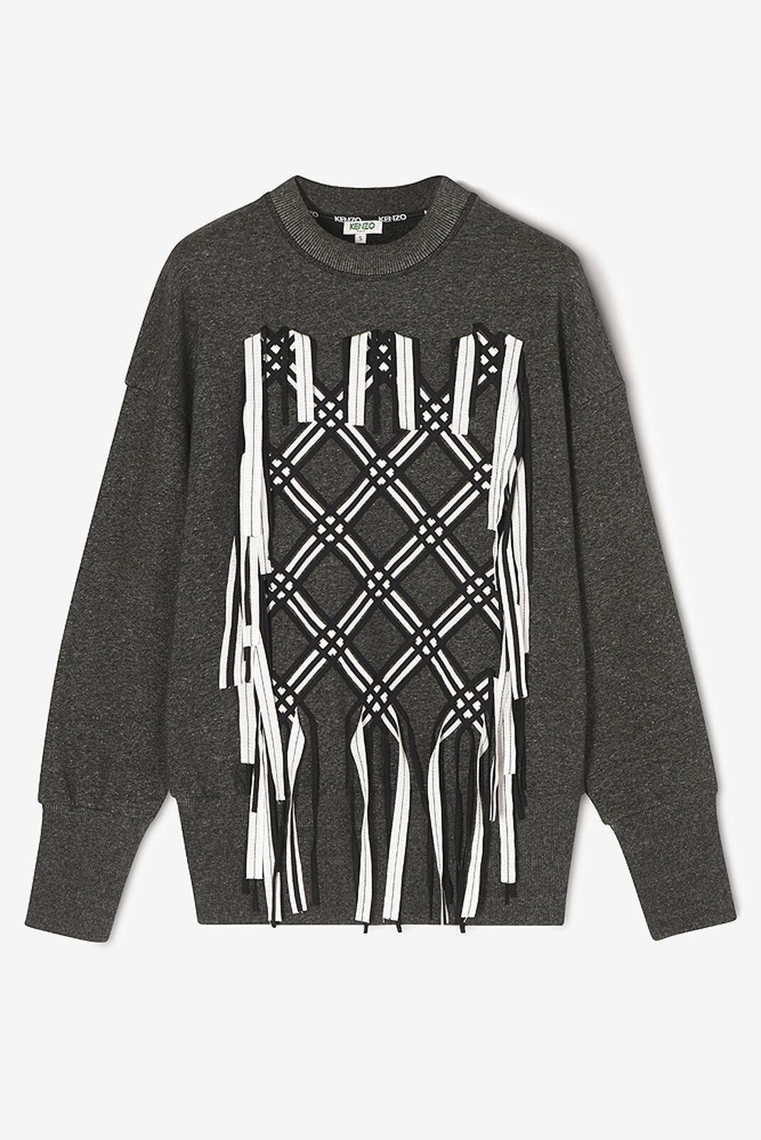 ANTHRACITE Sweatshirt with diamond embroidery for women KENZO