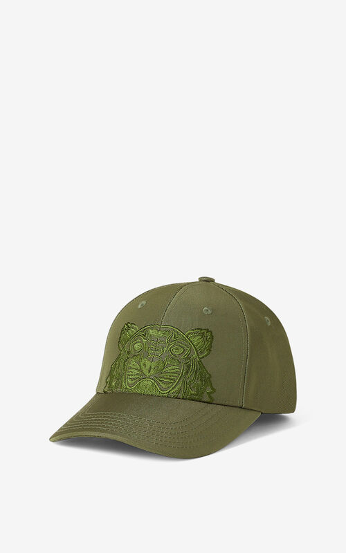 KHAKI Canvas Kampus Tiger cap for unisex KENZO
