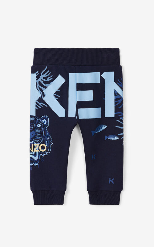 NAVY BLUE Joggers for unisex KENZO