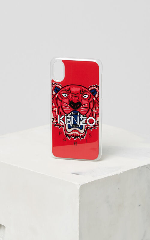 MEDIUM RED 3D Tiger iPhone X case for unisex KENZO