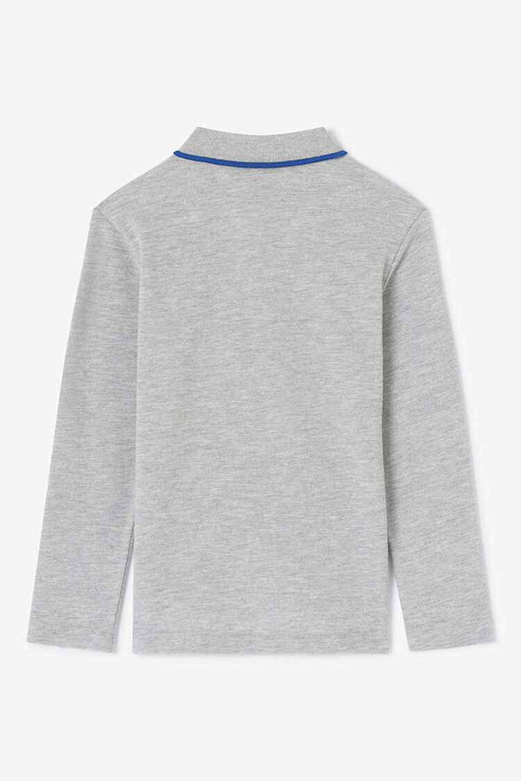 MIDDLE GREY Long Sleeve Polo Shirt for men KENZO