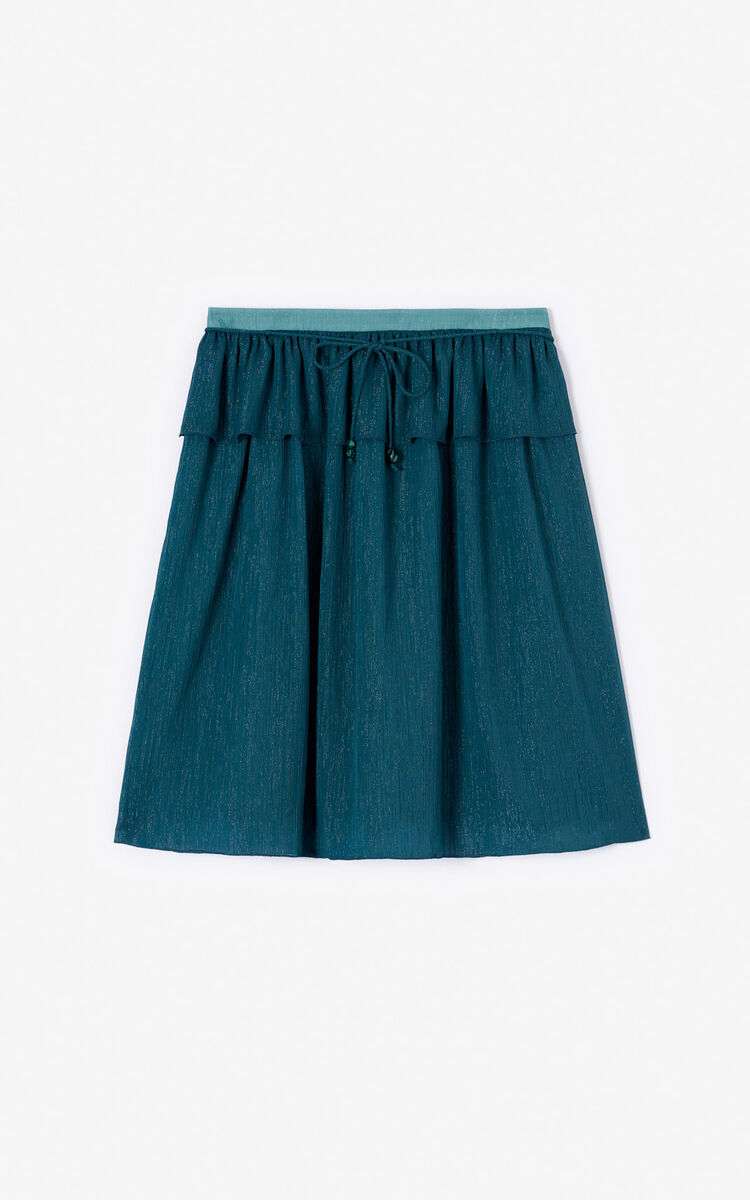 DUCK BLUE 'Holiday Capsule' flowing skirt for women KENZO