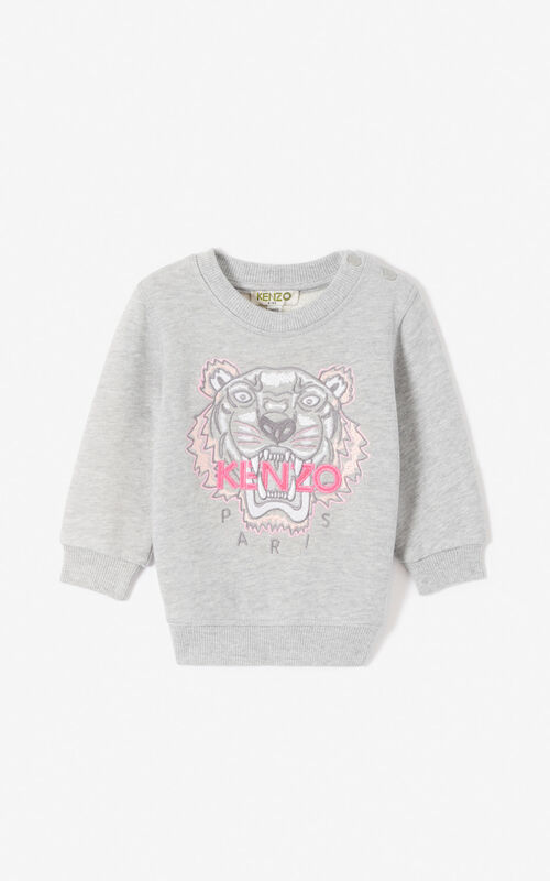 MISTY GREY Tiger sweatshirt for unisex KENZO