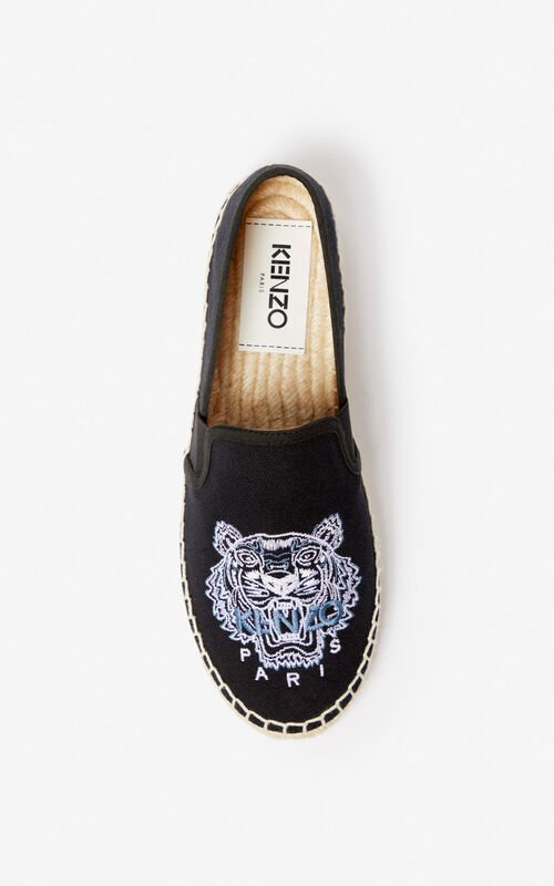 5a5fda1216f BLACK Tiger espadrilles for unisex KENZO BLACK Tiger espadrilles for unisex  KENZO