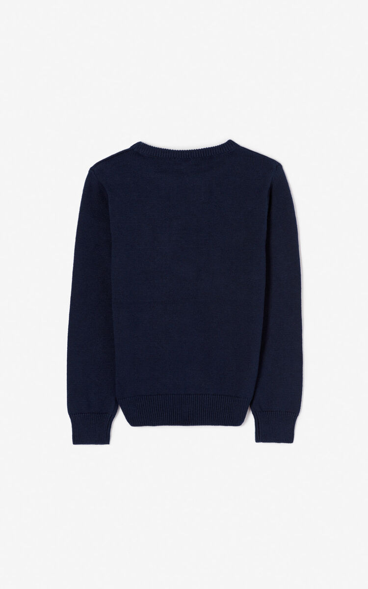 NAVY BLUE KENZO Paris jumper for men