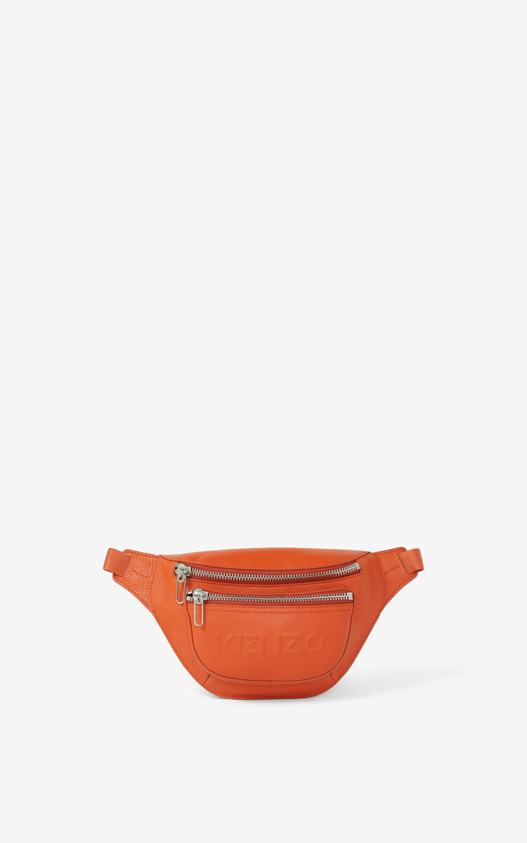 PAPRIKA KENZO Imprint grained leather bumbag for men